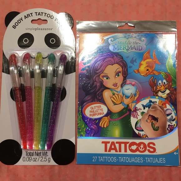 Simple Pleasures Accessories Tattoo Pens 27 Rub On Tattoos Poshmark